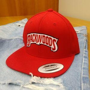 Backwoods snapback men's hat cap red the classics